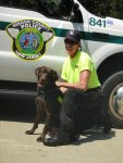 Jim MacDonald and K9 Kimo