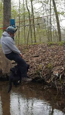 Neil and delta SAR black lab